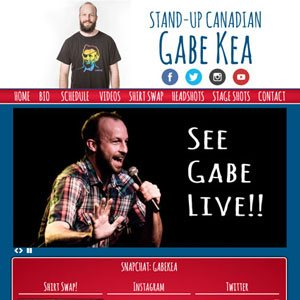 Stand up comedian Gabe Kea Website