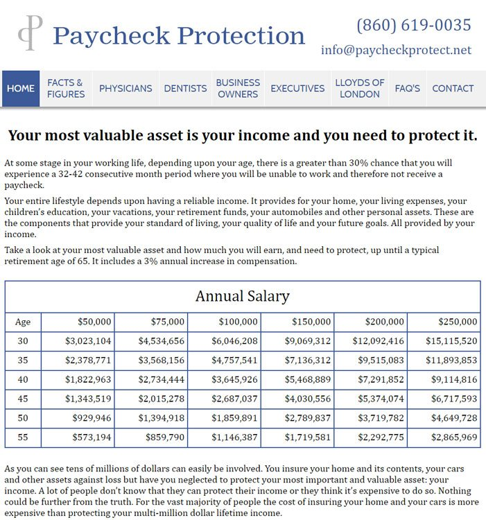 Paycheck Protect Website