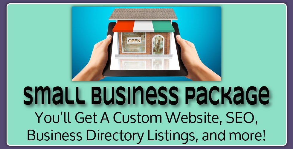Small business package. Includes custom website, seo, business directory listings, and more