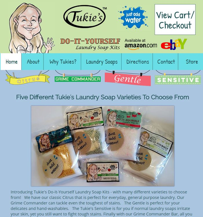 Tukie's Do It Yourself Laundry Soap Website